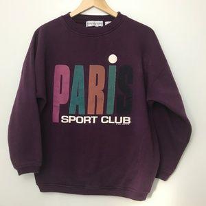 Vintage Paris Sport Club Crewneck Sweatshirt